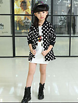 Girl's Casual/Daily Print Suit & Blazer,Cotton Spring / Fall Black / Red / White