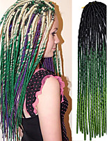20 inch Crochet Soft Dreadlock Havana Mambo Twist Braiding Hair Ombre Color Black Green with Crochet Hook