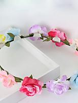 Dame / Blomsterpige Stoff Headpiece Bryllup / Spesiell Leilighet / Avslappet / Utendørs KranserBryllup / Spesiell Leilighet / Avslappet /
