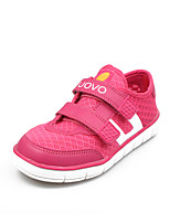 Girls' Shoes Casual Tulle / PU Fashion Sneakers Spring / Summer / Fall Round Toe / Open Toe / Comfort Flat Heel Magic Tape Pink