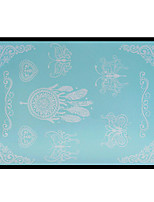 Lovely HENNA Lace Big White Face Sticker 07