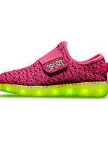 LED'S Shoes Girls' Casual Comfort Customized Materials Fashion Sneakers Black / Blue / Yellow / Green / Pink