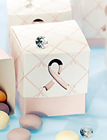 12 Piece/Set Favor Holder - Cubic Card Paper Favor Boxes Pink Ribbon Candy Box Women's Healthcare Non-personalised