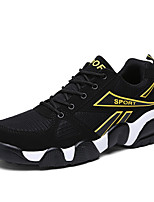 Men's Shoes Tulle Athletic Fashion Sneakers Athletic Flat Heel Blue / Yellow / Red