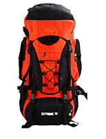70L L Camping& Hiking & Backpacking Pack / Climbing Outdoor Wearable / Multifunctional / Moistureproof Orange Nylon