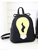 Women-Casual-PU-Backpack-Pink / Yellow / Red