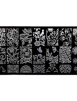 BlueZOO Rectangle Forest Garden Nail Art Stamping (BC-19)