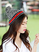 Unisex Knitwear Casual Blending Wool Knitted Couple Hat
