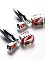 Men's Fashion Microphone Style Silver Alloy French Shirt Cufflinks (1-Pair)