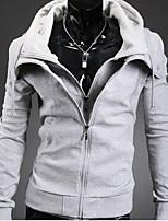 Sets Activewear Uomo Casual Tinta unita Manica lunga Cotone