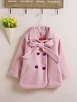Girl's Pink / Yellow Down & Cotton Padded,Solid Rayon Winter
