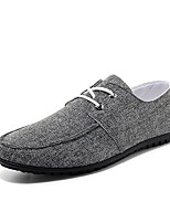 Men's Shoes Outdoor / Athletic / Casual Canvas Fashion Sneakers / Slip-on Black / Blue / Gray