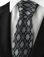 KissTies Men's Diamond Pattern Microfiber Tie Formal Necktie for Holiday Business  With Gift  Box (3 Colors Available)