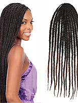 24 '' KaneKalon senegalese große Kiste Zöpfe Haar häkeln Twist Zöpfe synthetischen Flechthaar braunen Farben ombre
