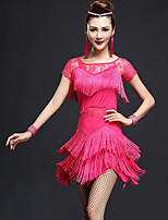 Latin Dance Dresses Women's Fashion Performance Chinlon / Nylon Lace / Tassel(s) Dance Costumes