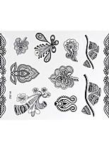 Tattoo Stickers Airbrush Tattoo Stencils Women / Adult Black Paper 1 21*17*0.3