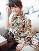 Women Wool Casual Chiffon Scarves Nation Retro Print Scarf Shawl