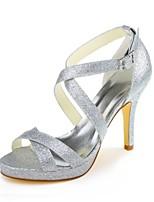 Zapatos de boda-Tacones-Tacones / Plataforma-Boda / Vestido / Fiesta y Noche-Plata-Mujer