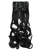 cabelo sintético 60 centímetros de alta temperatura preto profundo extensão do cabelo fio peruca comprimento