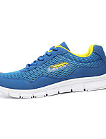 Men's Shoes Tulle Casual Fashion Sneakers Casual Flat Heel Blue / White / Gray