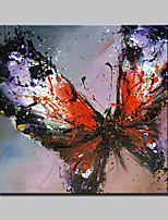 Peint à la main Abstrait / POP / Animal / Fantaisie / Paysages Abstraits Peintures à l'huile,Modern / Traditionnel Un Panneau Toile