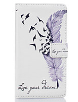 For Huawei Case Wallet / Card Holder / with Stand / Flip Case Full Body Case Feathers Hard PU Leather Huawei