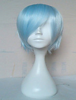 Top Quality Capless  Light Blue Wig  Short Straight  Synthetic Hair Wigs  Cosplay  Wig
