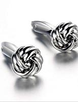 Unisex Fashion Silver Alloy French Shirt Cufflinks (1-Pair)