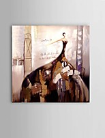 Hand-painted Oil Painting Ballerina Girl Bar Restaurant Decor with Stretched Frame