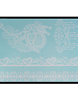 Lovely HENNA Lace Big White Face Sticker 16