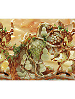 JAMMORY Art Deco Wallpaper Luxury Wall Covering,Canvas Red Mud Jade Large Mural