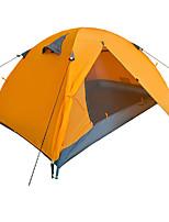 Tenda-Impermeabile / Traspirabilità / Anti-polvere / Anti-vento / Tenere al caldo-3-4 persone-Blu / Arancione