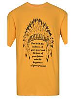 Lesmart Men's Round Neck Short Sleeve T Shirt Black / White / Green / Orange / Burgundy-TK16309