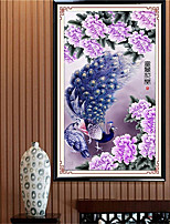 DIY 5D Diamonds Embroidery Purple peacock Picture Round Diamond Painting Cross Stitch Kits 66*120cm