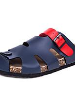 Sapatos Masculinos-Chinelos-Azul-Couro-Ar-Livre / Social / Casual / Para Esporte / Festas & Noite