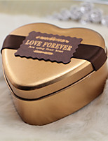 6 Piece/Set Favor Holder-Heart-shaped Metal Gift Boxes Non-personalised