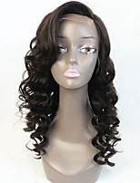 Grade 8A Quality Brazilian Virgin Human Hair Wavy Lace Front Full Lace Wig with High Side Fringer