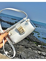 Women-Casual-PU-Shoulder Bag-White / Black