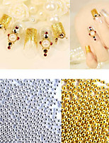 50g/pack New Gold Silver Metal Caviar Beads 3d Nail Art Decorations DIY