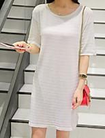 Pullover Aux femmes Manches Courtes Chic de Rue Rayonne Moyen