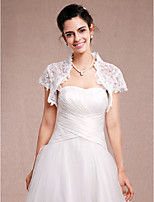 Women's Wrap Shrugs Short Sleeve Lace Ivory Wedding / Party/Evening / Casual Lace Open Front