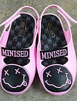 Zapatos de bebé-Planos-Casual-PVC-Negro / Rosa