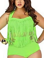Women's Swimwear Quick Dry / Compression Bikinis Adjustable Green S / M / L
