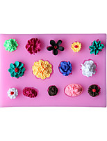 DIY Flowers Type Candy Fondant Cake Molds  For The Kitchen Baking Molds