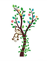 Wall Stickers Wall Decals Style Forest Cute Monkey PVC Wall Stickers