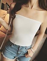 Women's Solid Pink / White / Black / Yellow Vest,Street chic Sleeveless