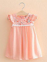 Summer Baby Kids Girls Flower Princess Sleeveless Floral Ptined Dress Party Dress