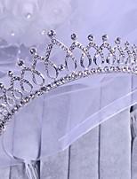 Femme / Jeune bouquetière Cristal / Alliage Casque-Mariage / Occasion spéciale Tiare 1 Pièce
