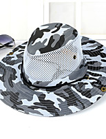 Unisex Casual Outdoor Jungle Camouflage Breathable Mesh Folding Fishing Tourism Cowboy Hat