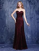 칵테일 파티 couture® TS는 레이스와 라인 아가 바닥 길이 레이스 드레스